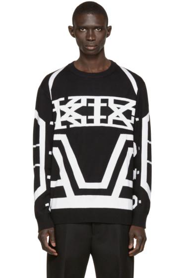 KTZ - Black & White Jacquard Logo Sweater