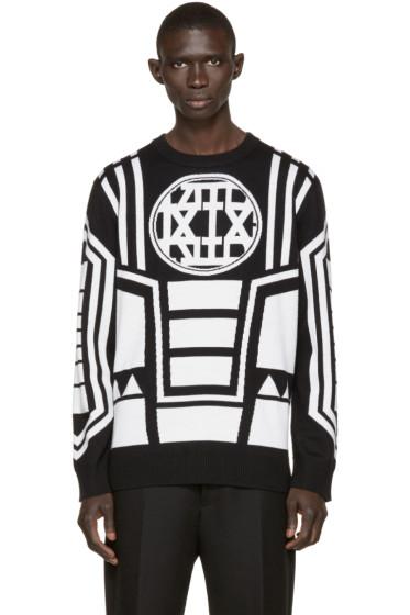 KTZ - Black & Ivory Knit Logo Sweater