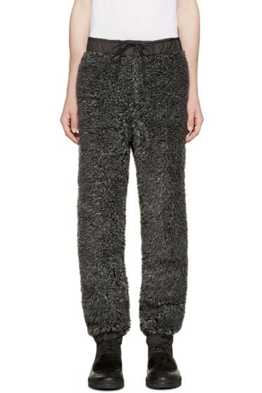 Sacai - Grey Faux-Shearling Lounge Pants