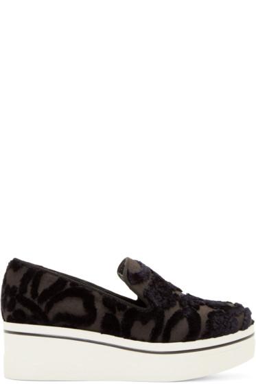 Stella McCartney - Black Embroidered Platform Binx Sneakers