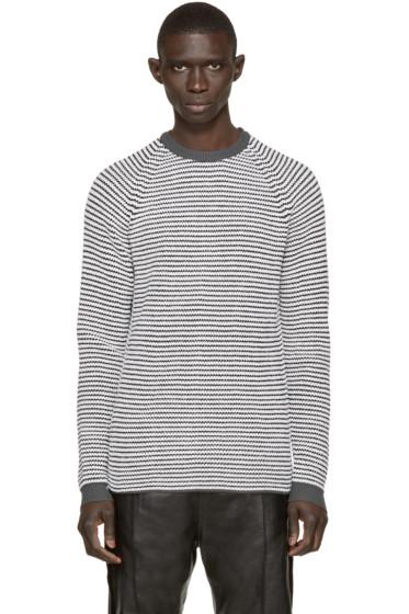 Umit Benan - Black & White Striped Supergeelong Sweater