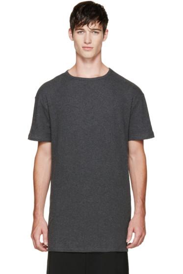 Thamanyah - Grey Brushed Cotton T-Shirt