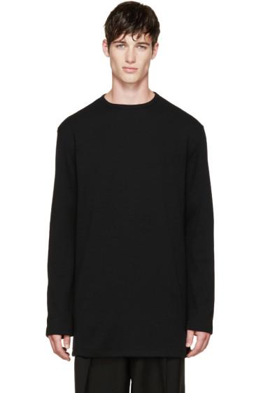 Thamanyah - Black Merino Knit Sweater