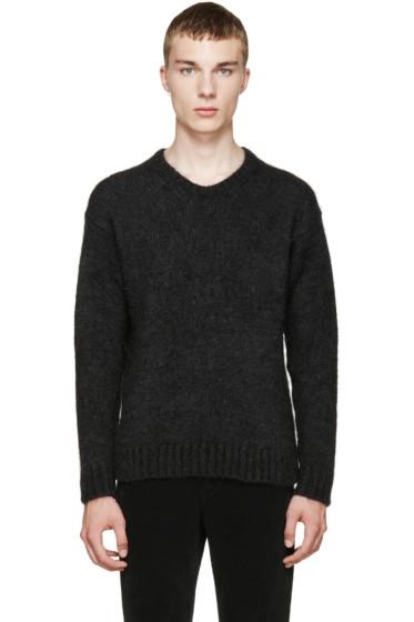 AMI Alexandre Mattiussi - Grey Mohair Sweater