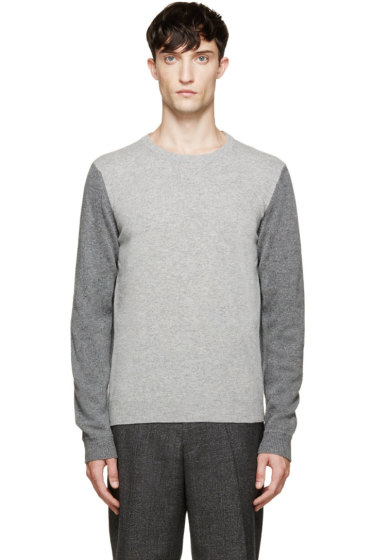 Calvin Klein Collection - Grey Two-Tone Sweater