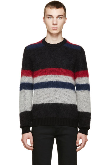 Costume National - Multicolor Striped Mohair Sweater