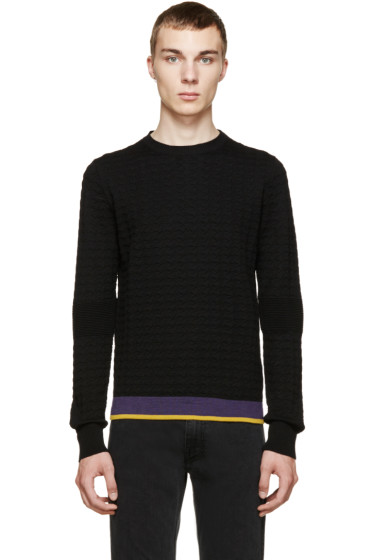 Costume National - Black Houndstooth Wool Sweater