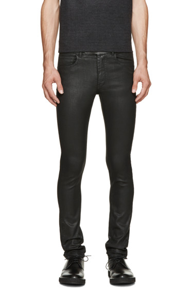 Costume National - Black Coated Skinny Jeans