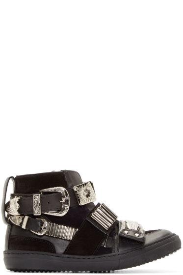 Toga Pulla - Black Western Buckle Sneakers