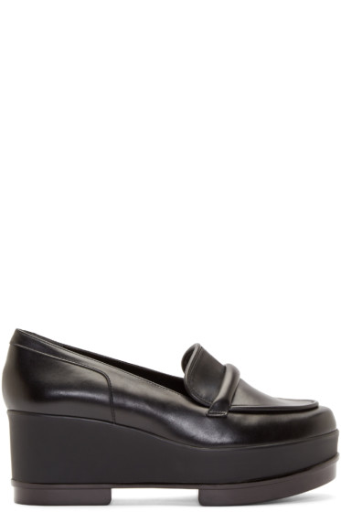 Robert Clergerie - Black Platform Yokolej Penny Loafers