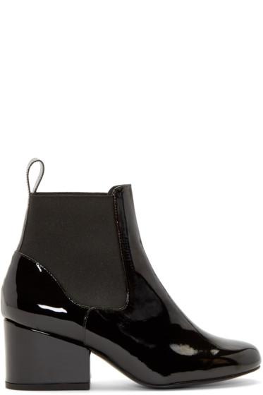 Robert Clergerie - Black Patent Moon Chelsea Boots