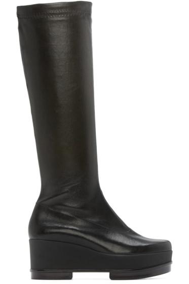 Robert Clergerie - Black Leather Knee-High Yostij Boots