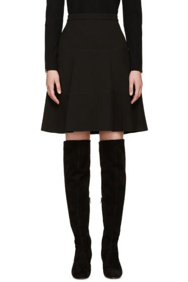 Giambattista Valli - Black A-Line Silk Skirt
