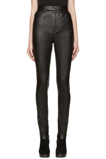 Haider Ackermann - Black High-Waisted Leather Pants