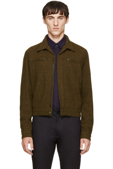 Haider Ackermann - Green Mottled Wool Jacket