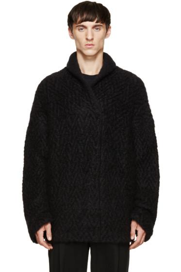 Haider Ackermann - Black Mohair Shale Collar Sweater