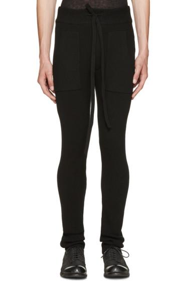 Haider Ackermann - Black Ribbed Knit Lounge Pants