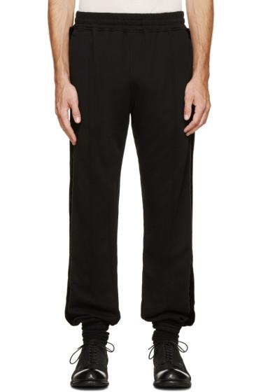 Haider Ackermann - Black Velvet Stripe Lounge Pants