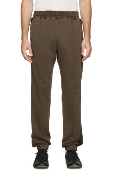 Haider Ackermann - Green Velvet Stripe Lounge Pants