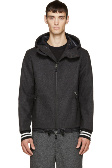 Giuliano Fujiwara - Grey Wool Hooded Jacket