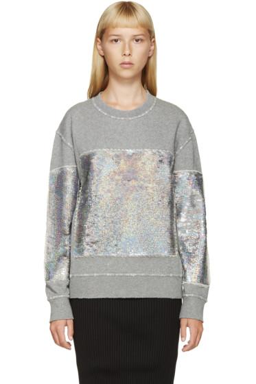 Filles a Papa - Grey Holographic Sequin Sweatshirt