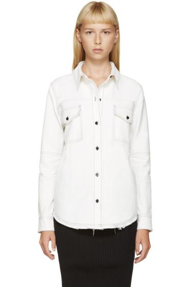 Filles a Papa - Cream & Black Cotton Shirt