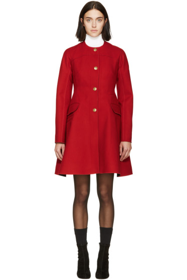 Moncler Gamme Rouge - Red Wool Military Coat