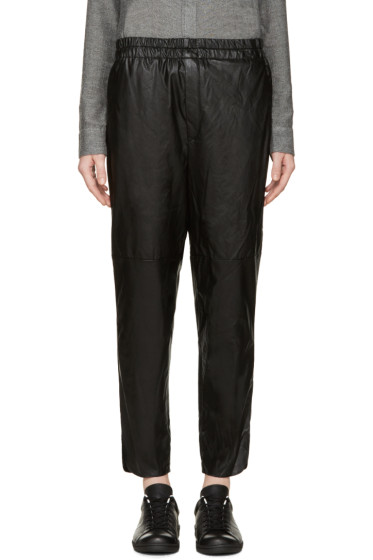 Isabel Marant Etoile - Black Faux Leather Jan Easy Trousers