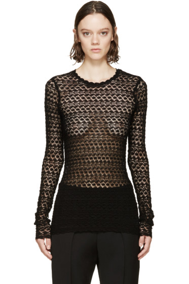 Isabel Marant - Black Crochet Dulcie Top