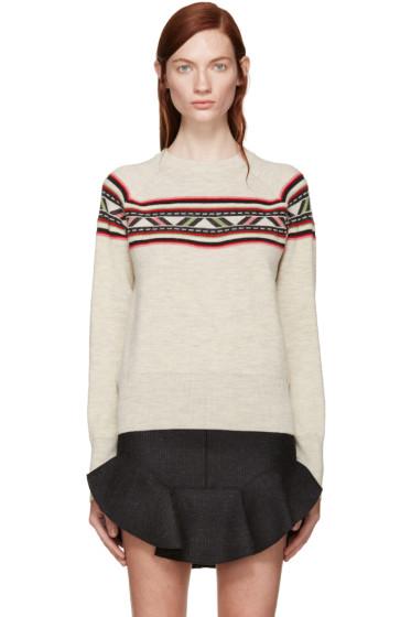 Isabel Marant - Beige Aspen Blake Sweater