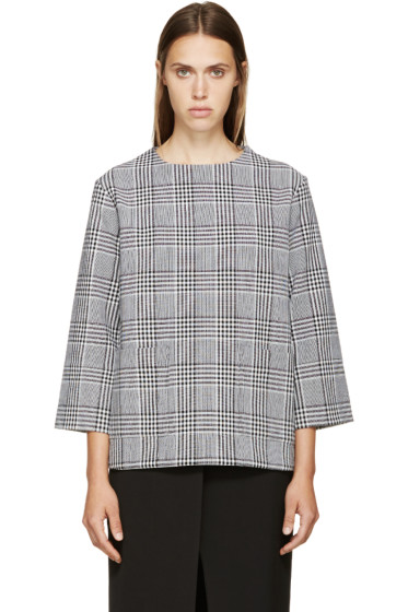 Studio Nicholson - Black & White Plaid Lucinda Tunic