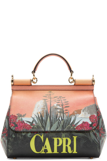 Dolce   Gabbana Multicolor Medium Capri Miss Sicily Bag from SSENSE ... 1257224012847