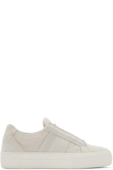 Helmut Lang Suede Low-Top Sneakers