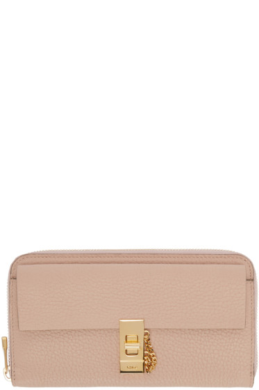 chloe pink small square drew wallet
