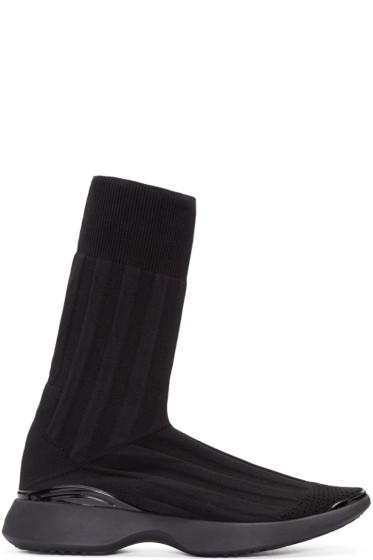 Acne Studios - Black Knit Batilda High-Top Sneakers