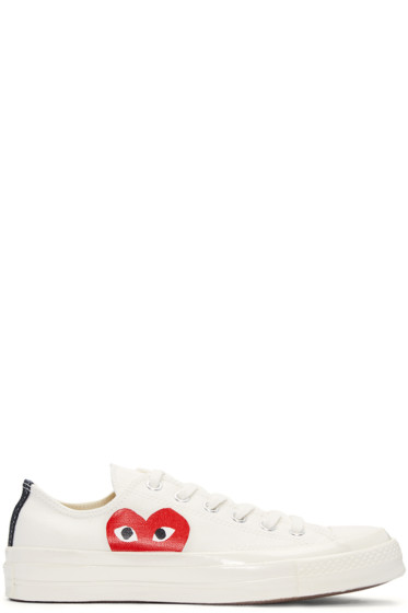 Comme des Garçons Play - Ivory Half Heart Converse Edition Sneakers
