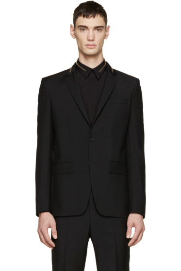 Givenchy - Black Wool Zippered Blazer