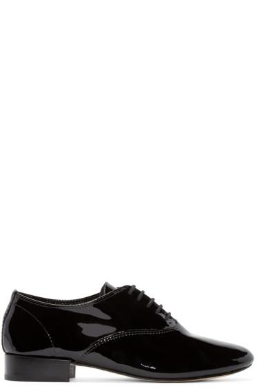 Repetto - Black Patent Leather Zizi Oxfords