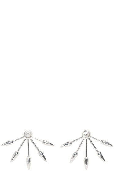 Pamela Love - Silver 5 Spike Stud Earrings