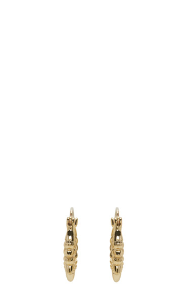 Pamela Love - Gold Tribal Spike Hoop Earrings