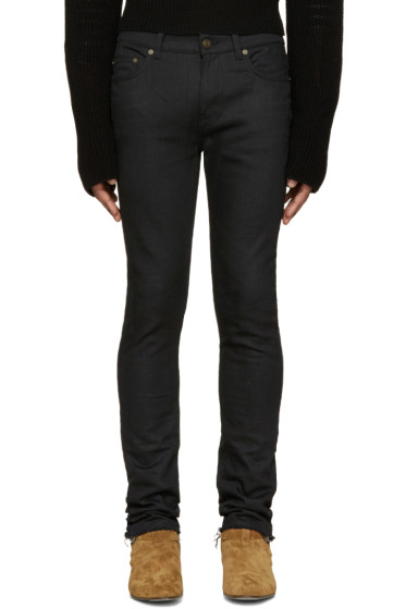 Saint Laurent - Black Raw Edge Skinny Jeans