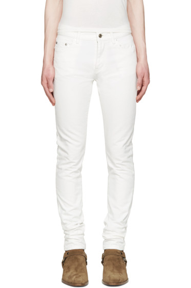 Saint Laurent - White Skinny Jeans