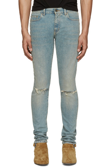 Saint Laurent - Blue Skinny Original Vintage Jeans