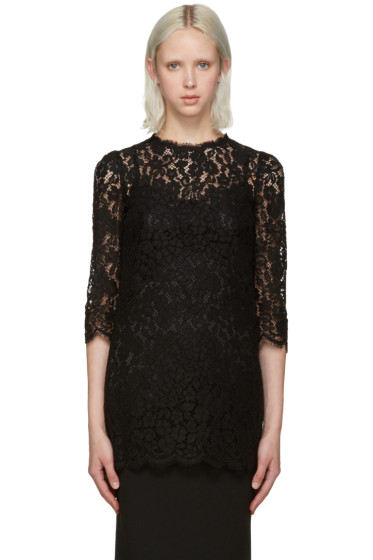 Dolce & Gabbana - Black Lace Blouse