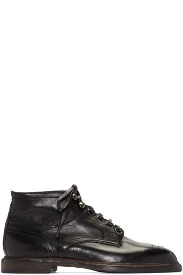 Dolce & Gabbana - Black Marsala Boots