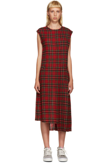 R13 - Red Tartan Slouch Kilt Dress