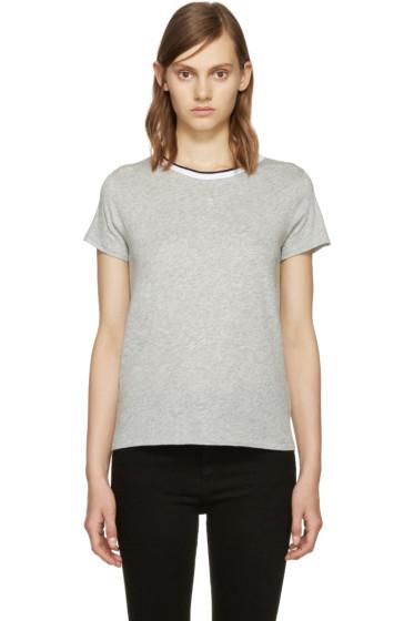 Rag & Bone - Grey Rib Base T-Shirt