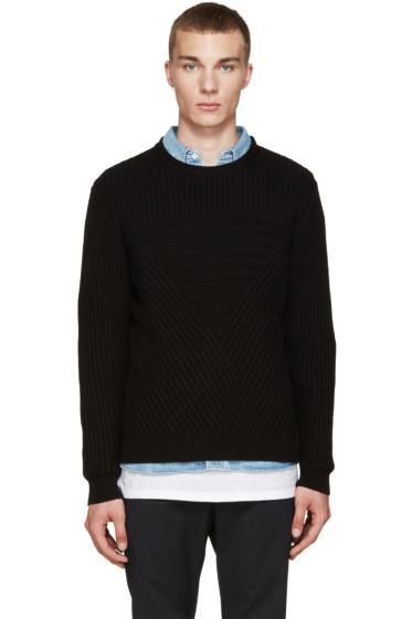 Public School - Black Moving Triangle Sweater