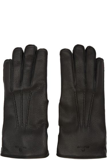 Belstaff - Black Leather Buckle Gloves