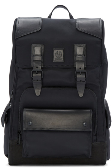 Belstaff - Black Roadmaster Backpack